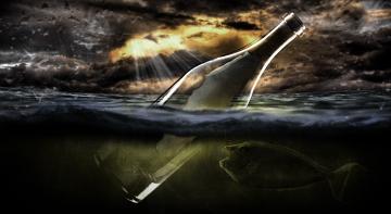 Бомба, Ракета, Позитив - пляшка, яка проплила всю Атлантику